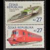 Tschechische Republik 2016 Nr. 874-75 Historische Verkehrsmittel Eisenbahn