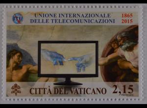 Vatikan Cittá del Vaticano 2015 Michel Nr. 1837 150 Jahre Int. Fernmeldeunion