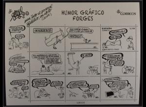 Spanien 2014, Block 260, Gezeichnet Humor, Frau will Mann Wecken, Antonio Forges