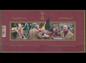 Belgien Belgium 2013 Block 175 20 Jahre Regentschaft von König Albert II