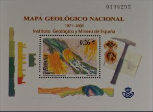 """Spanien 2003, Block 122, Plan """"Magna"""" zur systemat. geologischen Kartographie"""