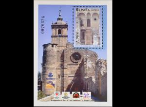 Spanien Spain España 2004, Block 135, Kloster Santa Maria de Carracedo, León