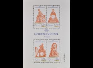 Spanien Spain España 2004, Block 136, Natioales Kulturerbe - Uhren