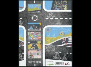 Belgien 2013 Block 171 Straßenverkehrskampagne GO For Zero Kinderzeichnungen