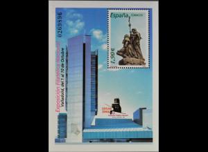 Spanien Spain España 2004, Block 142, Kolumbus-Denkmal von Antoniio Susillo