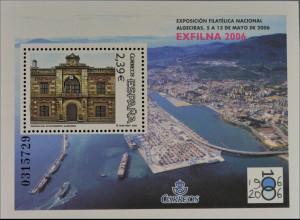 Spanien Spain España 2006, Block 149, Rathaus von Algeciras, nummerierter Block