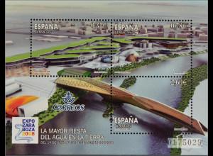 Spanien Spain España 2008, Block 170, Saragossa, Ausstellungsgelände