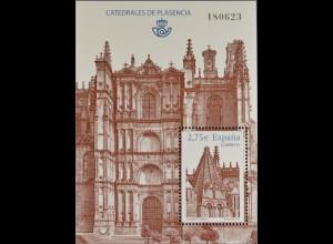 Spanien Spain España 2010, Block 191, Kathedralen von Plasencia