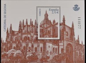 Spanien Spain España 2010, Block 196, Kathedralen von Segovia