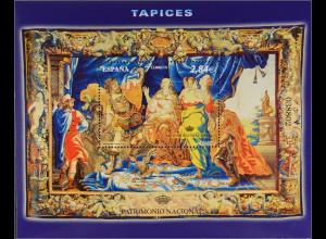 Spanien 2011, Block 209, Nationales Kulturerbe - Wandteppiche, Äneas von Dido