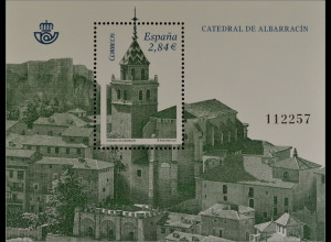 Spanien España 2011, Block 211, Kathedralen, Erlöser-Kathedrale in Albarracín