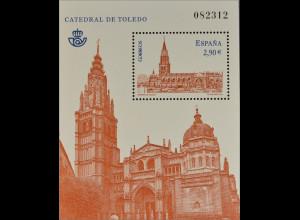 Spanien España 2012, Block 221, Kathedralen, Kathedrale von Toledo, geweiht 1226