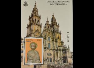 Spanien España 2012, Block 223, Kathedralen, Kathedrale von Santiago, Hl. Jakob