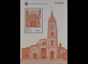 Spanien España 2012, Block 224, Kathedralen, Portal der Kathedrale von Oviedo