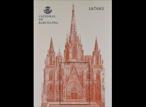 Spanien España 2012, Block 229, Kathedralen, Portal der Kathedrale von Barcelona