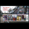 Belgien 2011 Block 158 Graffiti-Kunst Details aus Graffiti Wand Brüssel Laken