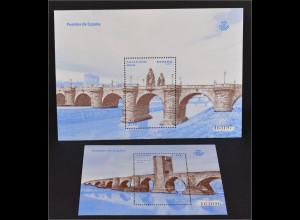 Spanien España 2013, Block-Paar 245-246, Spanische Brücken, Frías und Madrid