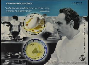 Spanien 2014, Block 251, Gastronomie; Ajoblanco, Traditionell und Gastronomen
