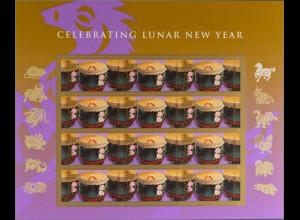 Amerika USA 2014 Folienbogen Nr. 5039 BA Chinesisches Neujahr Jahr des Pferdes