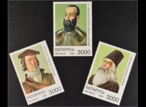 Weißrussland Belarus 1996 Michel Nr. 200-02 Persönlichkeiten Kyrill von Turau