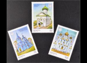 Weißrussland Belarus 2000 Mi. Nr. 342-44 2000 Jahre Christentum