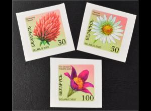 Weißrussland Belarus 2002 MiNr. 467-69 Blumen Klee Kamille Kuhschelle