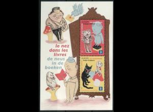 Belgien 2010 Block 150 Europa Kinderbücher Die Nase in die Bücher Zeichnungen
