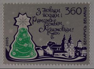 Weißrussland Belarus 2005 MiNr. 612 Neujahr und Weihnachten Weihnachtsbaum