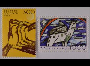 Weißrussland Belarus 2006 MiNr. 619-20 Europa Integration Pinguine Pegasus