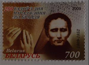 Weißrussland Belarus 2009 MiNr. 754 Louis Braille Blindenschrift