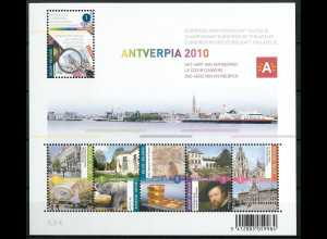 Belgien 2010 Block 148 Internationale Briefmarkenausstellung ANTVERPIA 2010