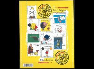 Belgien 2011 MiNr. 4181-90 Das ist Belgien VIII Karikaturisten Selbstporträts