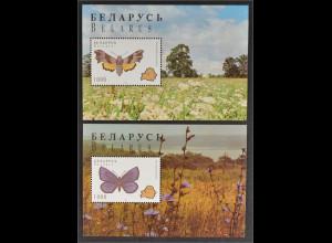 Weißrussland Belarus 1996, Block 7-8, Schmetterlinge, Nachtkerzenschwärmer