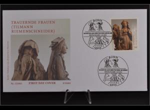 Bund BRD Ersttagsbrief FDC 1. Oktober 2015 Nr. 3180 Schätze deutscher Museen