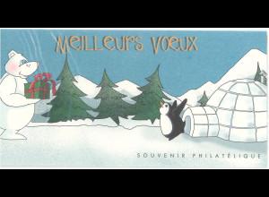 Frankreich Michel Nr. Block 50 originale Faltkarte Weihnacht Neujahr 2005