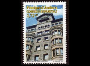 Andorra spanisch 2014 MiNr. 422 Architektur Haus Felipó Agustí Borrell Sensat