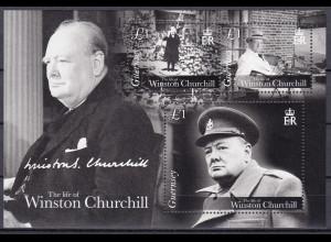 Guernsey 2015 Block 71 50. Todestag von Winston Churchill