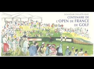 Frankreich MiNr. Block 63 Golfmeisterschaft in Paris Faltkarte 2006