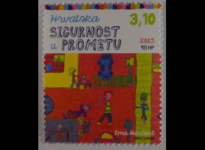 Kroatien Croatia 2015 Michel Nr. 1204 Verkehrssicherheit Kinderzeichnung