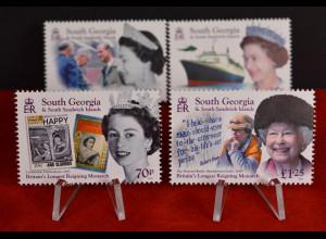 Süd Georgien und Südl. Sandwichinseln 2015 Michel Nr. 660-63 Elisabeth II.