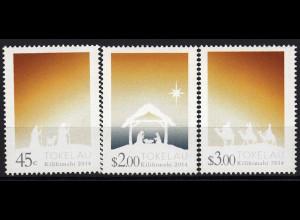 Tokelau Inseln 2014 Michel Nr. 457-59 Weihnachten