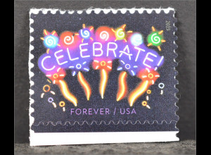 Amerika USA Jahr 2015 Michel Nr. 5198 Neon Celebrate Feuerwerk selbstklebend