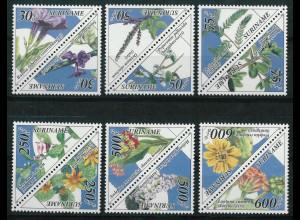 Surinam Michel Nr. 1502-13 ZD Motiv Heihpflanzen 1995