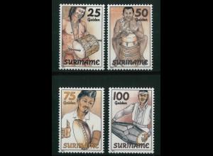 Surinam Michel Nr. 1467-70 Folklore Musikinstrumente 1994