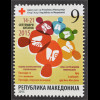 Makedonien Macedonia 2015 Nr. 170 Zwangszuschlag Rotes Kreuz, TBC