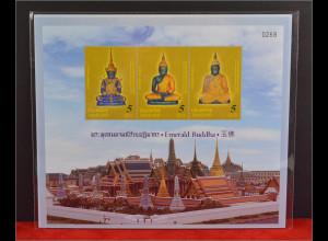 Thailand 2015 Block 334 Smaragd Buddha Emerald Buddha Ansicht Singapore