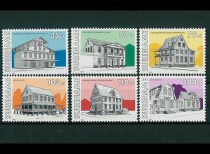 Surinam Michel Nr. 1365-70 kpl. Satz Motiv Gebäude Ansichten 1991