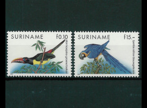 Surinam Michel Nr. 1356-57 Freimarken Vögel 1991