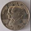 Amerika USA 1/2 Dollar 1921 Alabama Adler auf Wappenschild Silber