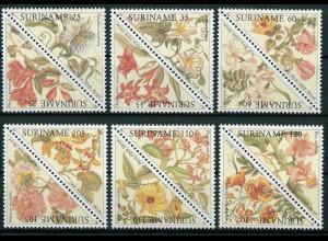 Surinam Michel Nr. 1335-46 ZD Motiv Blüten 1990
